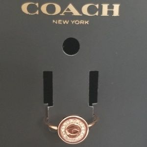 Coach Ring size 6 rose gold